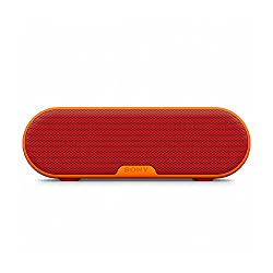 Sony SRS-XB2 Extra Bass Portable Wireless Speaker with Bluetooth and NFC (Red)