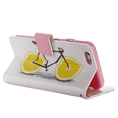 Voguecase® Pour Apple iPhone 6/6s 4,7 Coque, Étui en cuir synthétique chic avec fonction support pratique pour iPhone 6/6s 4,7 (Neverland 01)de Gratuit stylet l'écran aléatoire universelle l'orange vélo 01