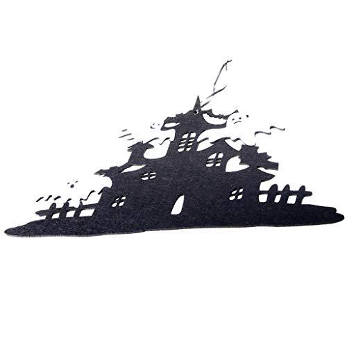 Cute Cartoon Kostüm Zeichen - Mitlfuny Halloween coustems Kürbis Hexe Cosplay Gast Ghost Schicke Party Halloween deko,Halloween Vliestür hängen Dekor Spukhaus Fledermaus Home Party Decor