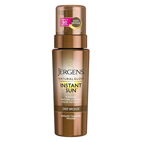 Jergens Natural Glow Instant Sun Moisturizing Mousse, Dark, 6 Ounce
