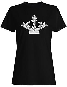 Novedad divertida del arte de la reina del rey de la corona camiseta de las mujeres a594f