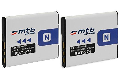 2X Akku NP-BN1 für Sony Cyber-Shot DSC-TX100V, W710, W830, WX80, WX220, QX100. (s. Liste)