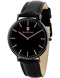 BLACK OAK Reloj con movimiento cuarzo japonés Man BX5890B-229 40 mm