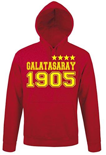 4-sterne-hoodie (Herren Kapuzenpullover Hoodie Sweater Galatasaray Istanbul 4 Sterne, Rot, XXL)