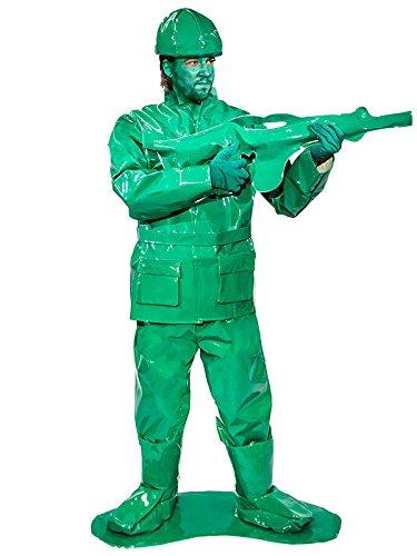 Spielzeug Soldat Kostüm - Unbekannt Spielzeug Soldat Krieger Kostüm grün (Bundle) XL