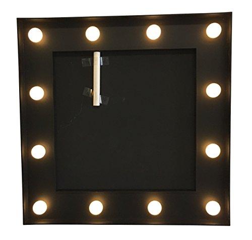 Mémo ardoise + cadre lumineux - Style Bistrot - Coloris NOIR