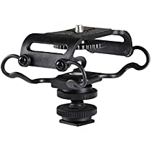 Goliton® Microfono Shockmount scossa supporto del supporto per Zoom H4n / H5 / H6 Sony Tascam DR-40 / DR-05 Registratori