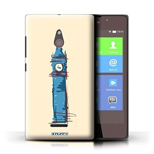 Kobalt® Imprimé Etui / Coque pour Nokia XL / Pyramides conception / Série Monuments Big Ben / Londre