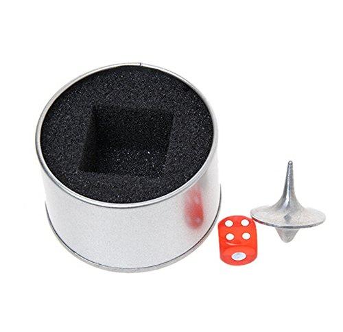 Spinning Legierung Totem Top Gyro Schlüsselanhänger Dice Gyro Box kreisel metall (Inception Kreisel)