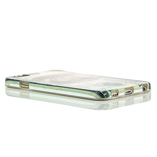 Saxonia Schutzhülle für Apple iPhone 6 / 6S Slim Case Hülle mit Motiv Affe Dollar
