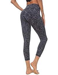 d5ca4b081230 Queenie Ke Leggings de Yoga Pantalons Power Flex à Taille Haute Collants de  Gym Course pour