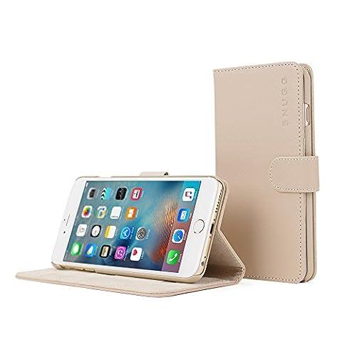 Coque iPhone 6 Plus et 6S Plus, Snugg Apple iPhone 6 Plus et 6S Plus Etui à Rabat [Emplacements Pour Cartes] Cuir Portefeuille Housse Désign Exécutif [Garantie à Vie] - Or Rose, Legacy Range