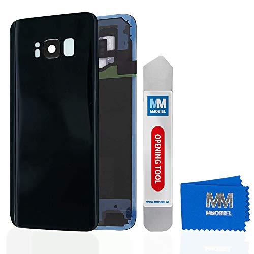 MMOBIEL Backcover Akkudeckel Rückseite Rück Klappe mit Linse kompatibel mit Samsung Galaxy S8 Plus G955 6.2 Inch (Midnight Black) - Unlocked Handys Att