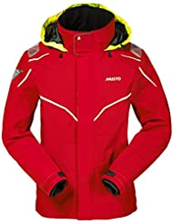 Musto BR1 Inshore Jacket in Red/White SB1227 Sizes- - XXLarge