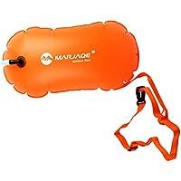 Magideal 1 Pieza de Alta Bolsa de Aire Inflable Visible Flotador de Remolque de Boya para Natación en Agua Abierta Color Naranja