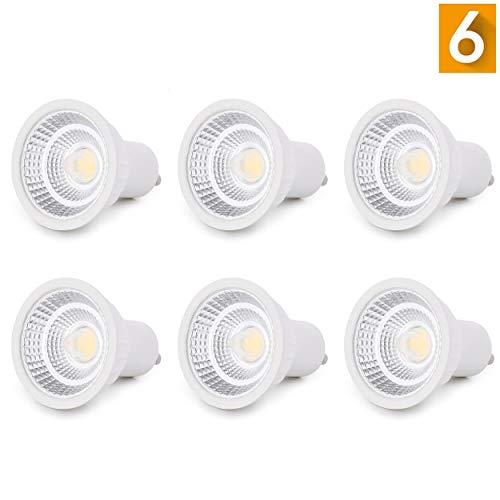 GU10 LED Lampe, Dimmbar, 6er Pack, 5W MR16 LED Lampen, Warmweiß 2700 Kelvin, 500lm, Ersatz für 50W Halogenlampen, 60°Abstrahlwinkel, LED Birnen, LED Leuchtmittel, 230 V -