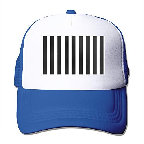 Bgejkos Schwarze und weiße Streifen Coole Snapback Cap Fit Cap für Männer und Frauen