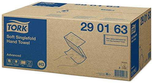 Preisvergleich Produktbild Tork 290163 weiche Zickzack Handtücher Advanced weiß für Tork H3 Zickzack und Lagenfalz Handtücher-Systeme/Falthandtücher 2-lagig weich & saugstark / 15 x 250 Tücher (24.8 x 23 cm)
