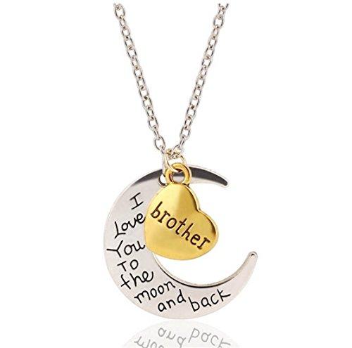 Kim Johanson Mond Halskette Silber & Gold Ich Liebe Dich bis Zum Mond und zurück inkl. Geschenkverpackung
