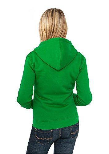 Urban Classics Damen Pullover Pullover Ladies Zip Hoody Turquoise