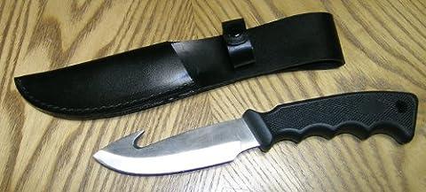 Naturmania Couteau de Chasse avec lame fixe et crochet à