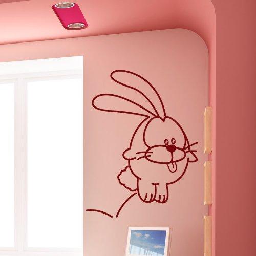 STICASA 'Little Bunny–52x 70cm–Dunkelrot–Wandtattoo