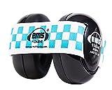 Em's 4 Bubs Baby Earmuffs Casque anti-bruit avec bandeau pour Bébé Bleu/Blanc