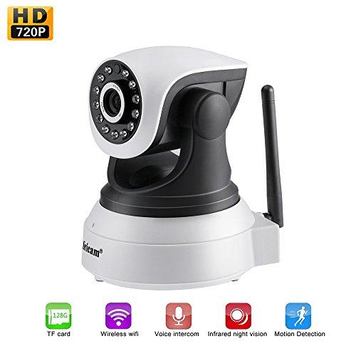 Camara IP WIFI 1080P, Camara de Vigilancia Inalámbrico, con HD Zoom, Vision...