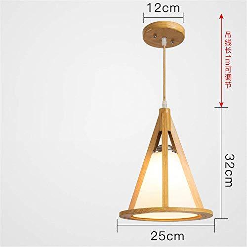 WHKHY Japanisches Holz Modernes, einfaches Holz Holz Massivholz Sino 25 * 32 cm Unsichtbare Pendelleuchte für Chrom-Haken Hotel-Schlafzimmer Lobby-Küche-Esszimmer