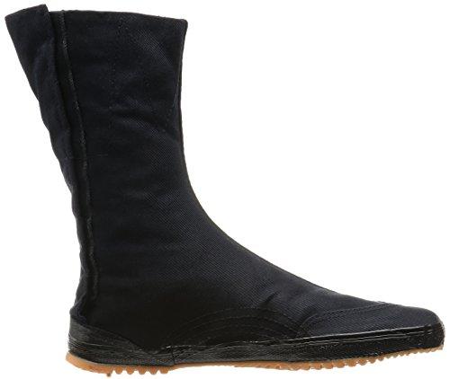 MARUGO Kaisoku Japanische Tabi Schuhe Schwarz mit 10 Clips und dicker Sohle Schwarz