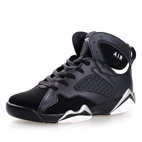YAN Männer Basketball-Schuhe High-Top Sneakers Lace up Sportschuhe Rutschfeste Kampfstiefel Casual/Daily Walking Shoes Herbst B, Größe : 39 -