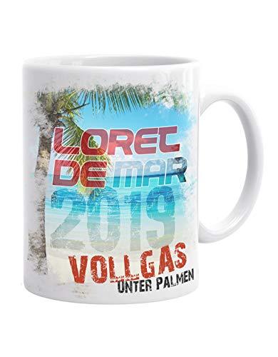 Jayess - Spanien Kaffeebecher - Loret de Mar - 2019 Vollgas unter Palmen