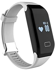 iMusi Bracelet Connecté Montre de Sport Fitness Intelligente SmartWatch IP65 Etanche Pour iphone et Android Blanc
