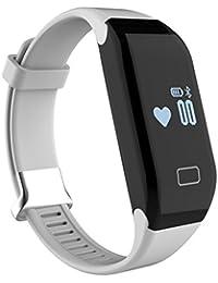iMusi Bracelet Connecté Montre de Sport Fitness Intelligente SmartWatch IP65 Etanche Pour iphone et Android Blanc