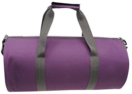 Barrel Tasche Reisetasche Sports Gym Travel Bags - Purple Grey