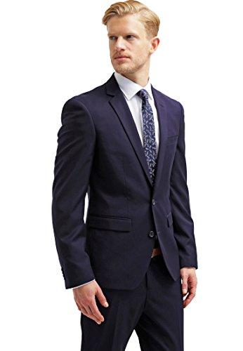 Pier One Anzug Herren Slim Fit Blau Navy, Größe 50 (Tuxedo Lauren)