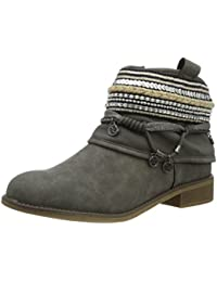 Easemax Damen Sexy Quaste Spitze Zehe High Heels Ankle Boots Mit Absatz Schwarz 46 EU