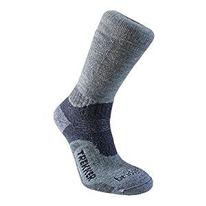 bridgedale men's woolfusion trekker socks, large, grey/dark grey by bridgedale