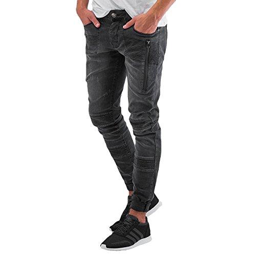 DEF Herren Jeans / Straight Fit Jeans Berlin Grau