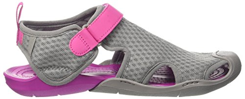 Crocs Swiftwater Mesh Sandal W Smo, Spartiates femme Gris (Smoke)