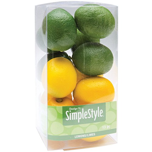 Unbekannt Floracraft Kunststoff Design ES EINFACH dekorativer Fruit 1-Mini Zitronen und Limetten