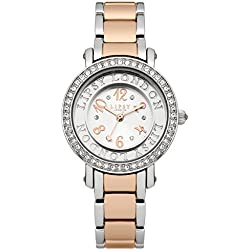 Lipsy Women's Quartz Watch with Silver Dial Analogue Display and Two Tone Bracelet LP179