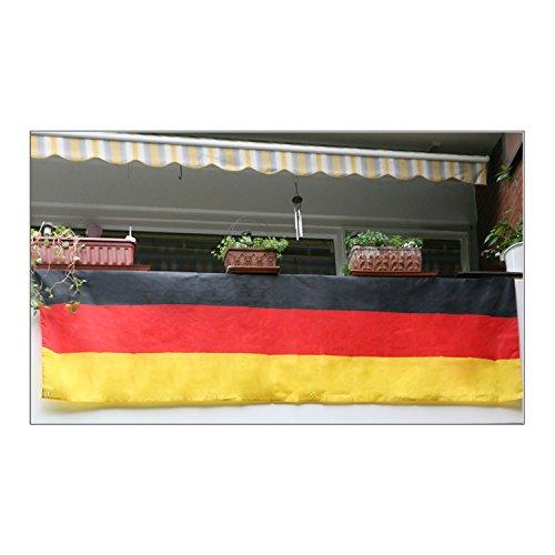 Balkonflagge Fussball Deko-Fanartikel Wohnung Garten Deutschland schwarz-rot-gold (Balkonflagge)