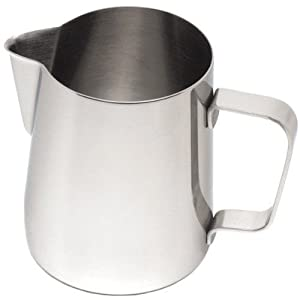 Frothing Jug 12oz / 330ml | Stainless Steel Frothing Jug, Cappuccino Milk Jug by Non Consumables