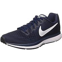 Nike Air Zoom Pegasus 34, Chaussures de Running Homme, Blanc/Bleu