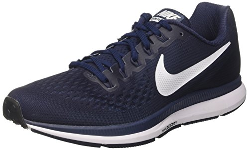 Nike Air Zoom Pegasus 34, Scarpe Running Uomo Multicolore (Obsidian/white/neutral Indigo/blue Recal)