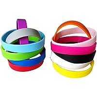 Green House-96pcs/set Blank Braccialetti Silicone Wristbands, 12 Colori Misti Braccialetti alla Moda