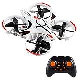 LayOPO Gestensteuer-Drohne, Mini-Quadcopter Drohne mit Höhenhalt, 2,4 GHz interaktive Drohne, 4-Achsen-Flugzeug mit Headless-Modus, RC Hubschrauber mit 3D-Flip-für Kinder, Anfänger weiß