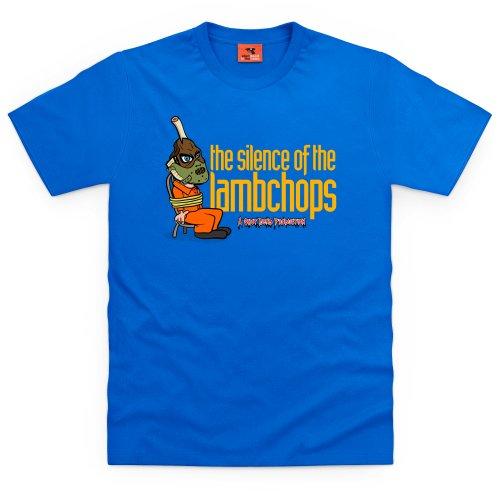Silence Of The Lambchops T-Shirt, Herren Royalblau