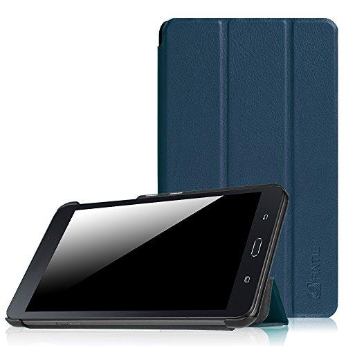 Tablet Cover Samsung 7 (Fintie Samsung Galaxy Tab A 7.0 Hülle - Ultra Schlank Superleicht Ständer Slim Shell Case Cover Schutzhülle Tasche für Samsung GALAXY Tab A 7.0 Zoll SM-T280 / SM-T285 Tablet (2016 Version), Marineblau)